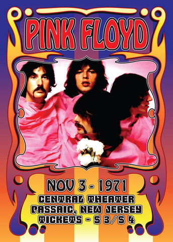 Pink Floyd - New Jersey 1971 Reproduction Print
