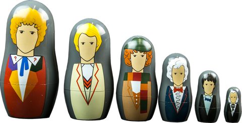 Doctor Who - Nesting Doll Set - 1st-6th Doctor