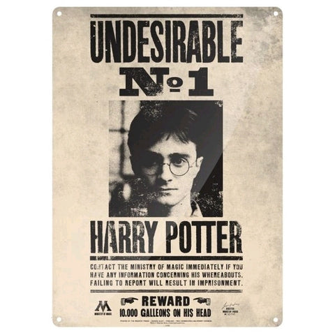 Harry Potter - Undesirable No1 Large Tin Sign