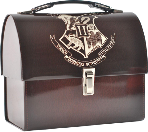 Harry Potter - Hogwarts Crest Domed Tin Tote Lunchbox