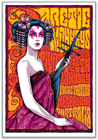 "Arctic Monkeys – ""Geisha Girl"" Melbourne 2009 Limited Edition Print"