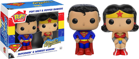 DC Comics - Superman and Wonder Woman Pop! Salt and Pepper Shaker Set