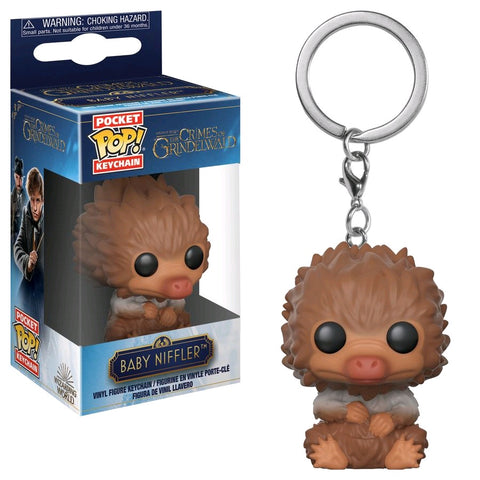 Fantastic Beasts 2: The Crimes Of Grindelwald - Baby Niffler Tan Pocket Pop! Vinyl Keychain - Pre-Order