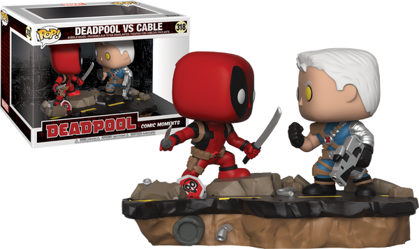 Deadpool - Deadpool vs Cable Comic Moments Pop! Vinyl Figure 2-Pack - Pre-Order