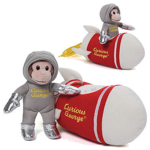 Curious George - Rocket Ship Plush with Sound Toy