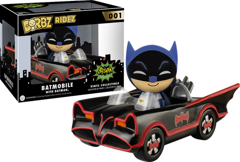 Batman 1966 Series Batmobile Dorbz Ridez with Vinyl Figure