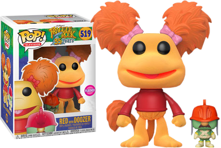 Fraggle Rock - Red with Doozer Flocked Pop! Vinyl Figure - Pre-Order