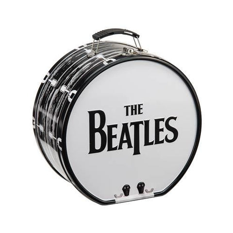 The Beatles - Black and White Drum Shaped Tin Tote