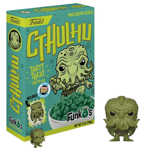 HP Lovecraft - FunkO's Cereal with Cthulhu Pocket Pop! Vinyl Figure - Pre-Order