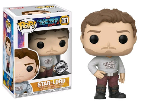 Guardians of the Galaxy: Vol. 2 - Star-Lord with Gear Shift Shirt US Exclusive Pop! Vinyl Figure - Pre-Order