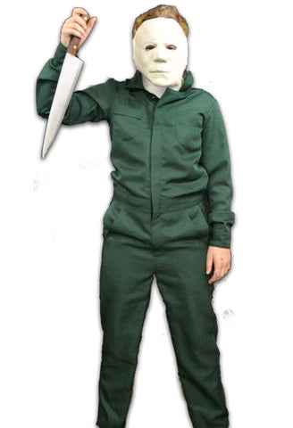 Halloween 2 - Michael Myers Coveralls Costume & Mask Combo Child - Pre-Order