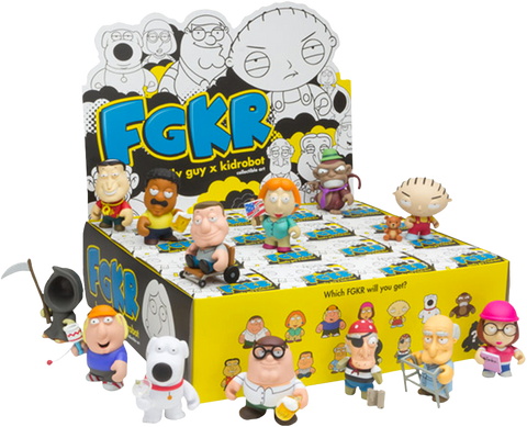 "Family Guy - 3"" Mystery Mini Figures: Case of 16 Blind Boxes"