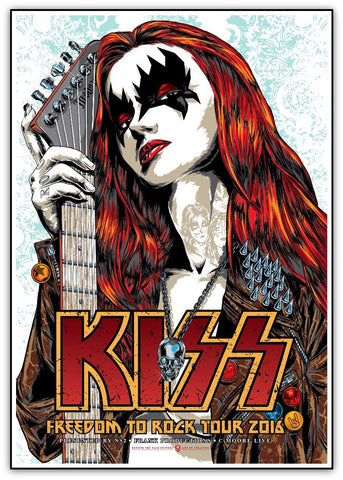 KISS - Freedom To Rock Tour 2016 Limited Edition Print