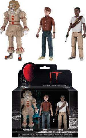 It (2017) - Pennywise, Stan & Mike Action Figure 3-Pack - Pre-Order