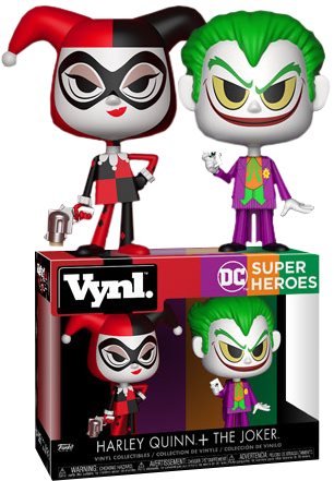 Batman - Harley Quinn and The Joker Vynl. Vinyl Figure 2-Pack - Pre-Order