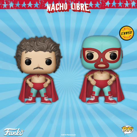 Nacho Libre - Nacho Libre Pop! Vinyl Figure: Case of 6 with a Chase