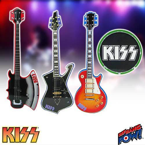 KISS - Musical Instrument Shaped Coaster Set of 4