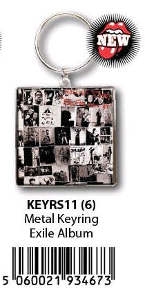 The Rolling Stones - KeyRing Exile On Main Street Album Cover