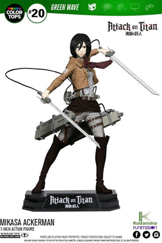 "Attack on Titan - Mikasa Ackerman 7"" Action Figure"