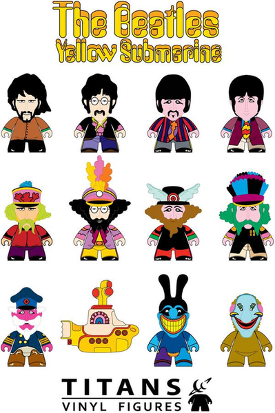The Beatles: Yellow Submarine - Titans Mystery Mini Blind Box Case of 20 Figures