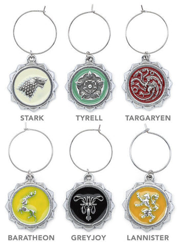 Game of Thrones - House Sigil Wine Charm 6 Pack