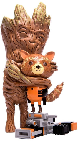"Guardians of the Galaxy - Rocket & Groot Treehugger 9"" Vinyl Figure - Pre-Order"