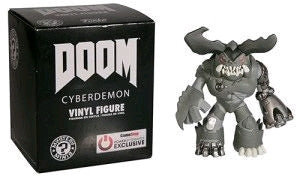 Doom - Cyberdemon Black & White Exclusive Mystery Mini