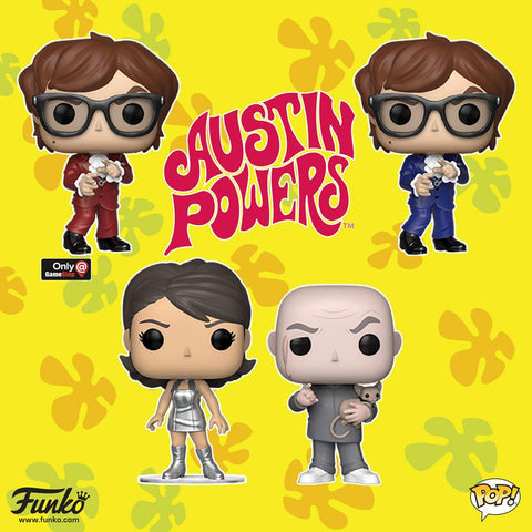 Austin Powers - Bundle Set of 4 Pop! Vinyl Figures - Pre-Order