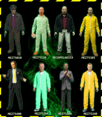 Breaking Bad - Set of 8 Mezco 6 Inch Action Figures