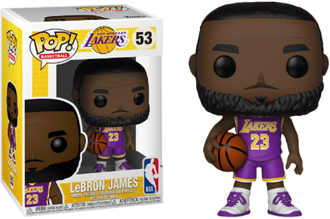 NBA Basketball - Lebron James L.A. Lakers Purple Uniform Pop! Vinyl Figure - Pre-Order