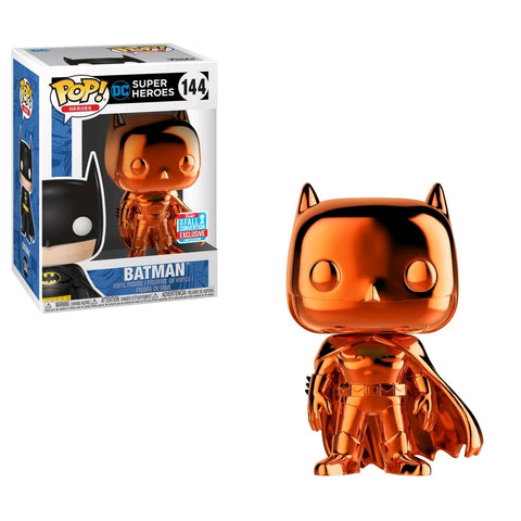 Batman - 3 Pack Bundle of Pop! Vinyl Figures including NYCC Orange Chrome Batman - Pre-Order