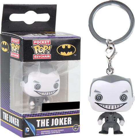 Batman - Joker Black & White US Exclusive Pocket Pop! Keychain