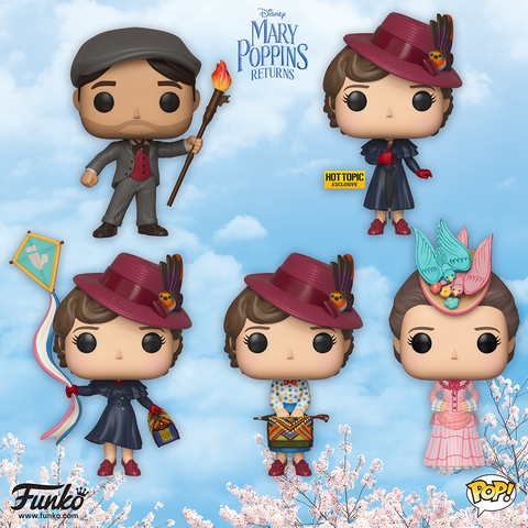 Mary Poppins Returns - Set of 5 Pop! Vinyl Figures