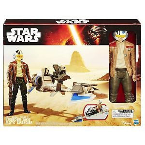 Star Wars - The Force Awakens: 12-Inch Vehicle - Speeder Bike with Poe Dameron