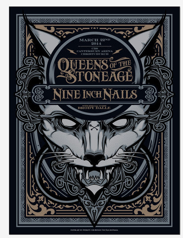 Queens Of The Stone Age & Nine Inch Nails - Christchurch 2014 Ltd Edition Print