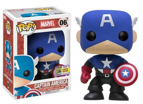Captain America - SDCC17 Exclusive Captain America (Bucky Cap) Pop! Vinyl Figure