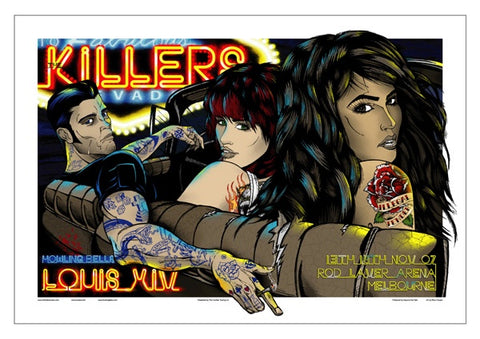 The Killers - Melbourne 2007 Limited Edition Print