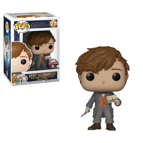 Fantastic Beasts 2: The Crimes of Grindelwald - Newt with Postcard Pop! Vinyl Figure - Pre-Order