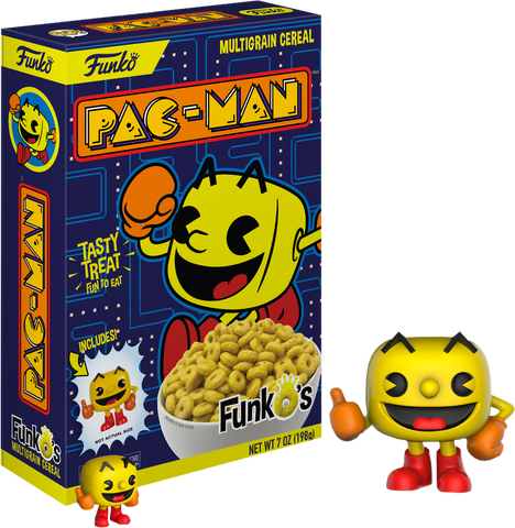 Pac-Man - FunkO's Cereal with Pac-Man Pocket Pop! Vinyl Figure - Pre-Order