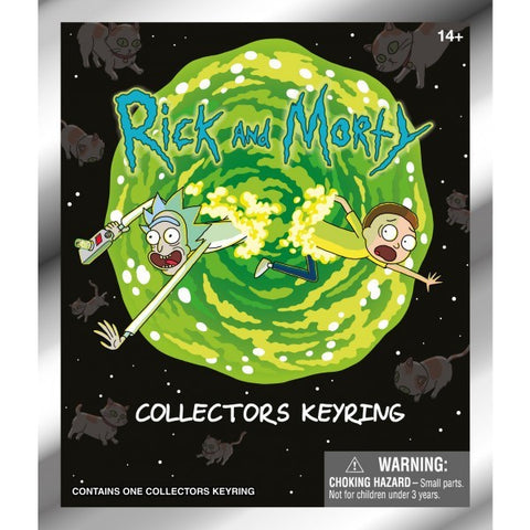 Rick & Morty - 3D Key Ring Figures Series 2: Case Of 24 Blind Bags - Pre-Order