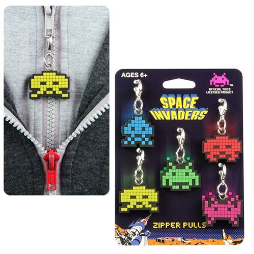 Space Invaders - Zipper Pull / Key Chain 5-Pack