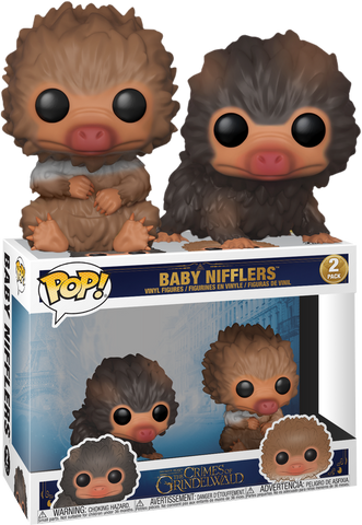 Fantastic Beasts 2: The Crimes Of Grindelwald - Baby Nifflers Pop! Vinyl Figure 2-Pack