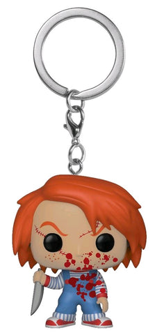Childs Play - Chucky Blood Splattered Pocket Pop! Keychain - Pre-Order