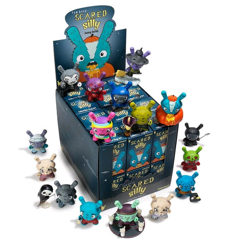 "Scared Silly by Jenn & Tony Bot - 3"" Dunny Mystery Mini Figures: Case of 24 Blind Boxes - Pre-Order"