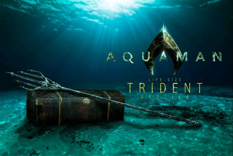 Aquaman - Trident in Treasure Chest Life-Size Replica - Pre-Order