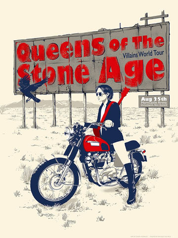 Queens Of The Stone Age - Christchurch NZ 2018 Limited Edition Print