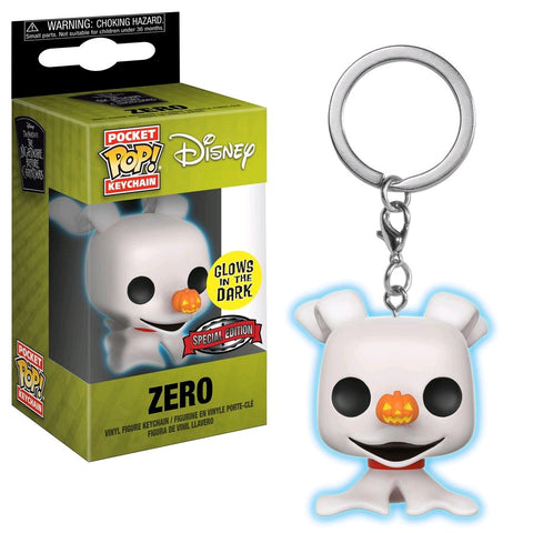 The Nightmare Before Christmas - Zero Glow Pocket Pop! Keychain - Pre-Order
