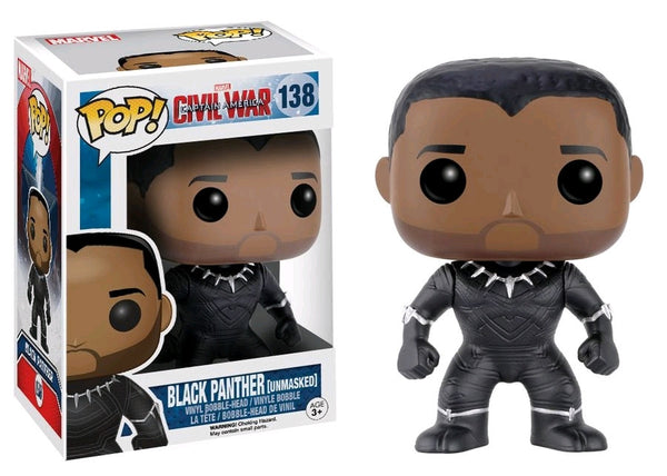 Captain America 3: Civil War - Black Panther Unmasked US Exclusive Pop! Vinyl Figure
