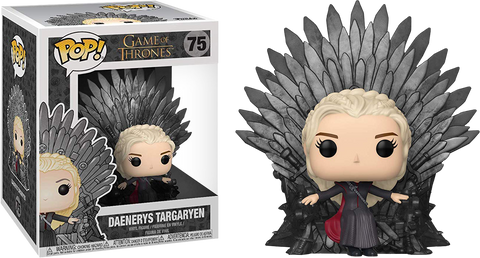 Game of Thrones - Daenerys on Iron Throne Deluxe Pop! Vinyl Figure