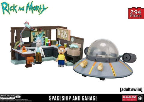 Rick and Morty - Spaceship and Garage Large Construction Set - Pre-Order